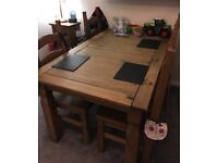 Corona Mexican Pine 5ft table and chairs