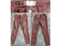 Women's Pieces Just Jute Legging Size M/L Color light brick