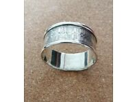 Old solid Stirling Silver napkin ring