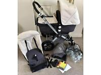 Stunning Off white & Gray Bugaboo Cam 2 with extras Inc Footmuff! VGC!