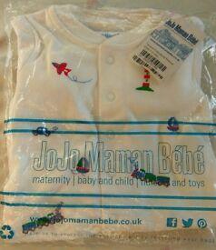 Jojo White Baby Sleepsuit