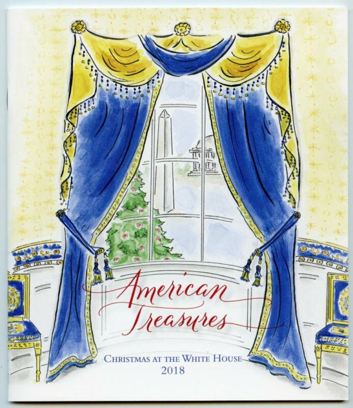 2018 White House Christmas Holidays Tour Book Program Donald Melania Trump POTUS