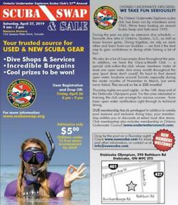 SCUBA Swap 2019!  OUE Proudly presents the 27th Annual Event on April 27 -- Get your dive gear on .. or sold!