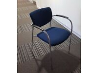 12 - SENATOR CONTOUR HI QUALITY STACKING CHAIRS IN BLUE - NOT CHINESE CHEAP RUBBISH