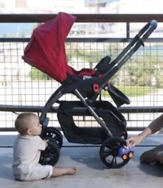 Casualplay Avant Travel System - Red and Black