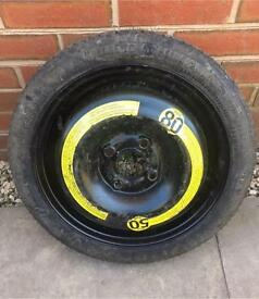 "14"" 4x100 Space Saver w/ 105/70/14 Continental Tyre"