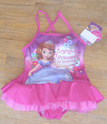 New Disney Jr Sofia the First Onepiece Swimsuit Purple Pink Ruffle Skirt 2T - Sofia The First Skirt
