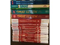 GMAT manhattan books complete collection + test simulation booklet