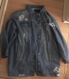 Oversize denim jacket size 14