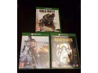 XBOX One Games (Borderlands, Battlefield, CoD)