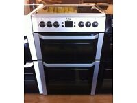 BEKO - 60cm Silver, Fan Assisted, Ceramic ELECTRIC COOKER + 3 Months Guarantee + FREE LOCAL DELIVERY