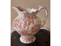 Victorian/ Edwardian jug with beautiful floral design