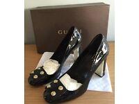 Gucci Black Patent Shoes Size 6 (39)