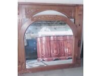 Fire Surround and matching Over Mantle Mirror