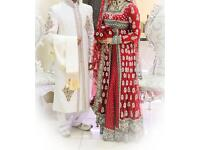 Bridal wedding lengha dress walima sherwani - heavily embroidered - Indian Pakistani
