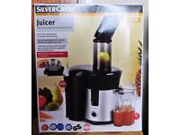 For sale Silver Crest Juicer Still In its Box Used Just once.