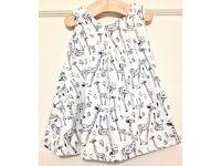 Baby Girl M&S Giraffe Print Dress. 12-18 months