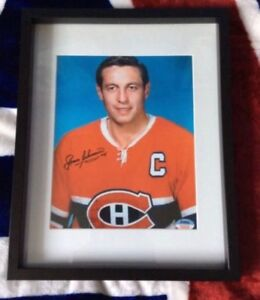 Montreal Canadiens Jean Beliveau Signed and framed photo