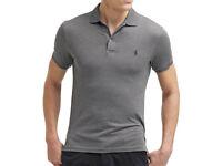 Polo Ralph Lauren Mens Short Sleeve Grey Top Tee T-shirt TW63