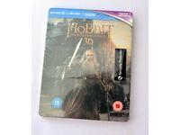 NEW-Ltd Edition Steelbook: Hobbit: The Desolation Of Smaug 3D/BluRay/UV (Sealed)
