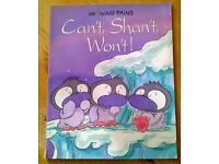 """Growing pains """"Can't shan't won't"""" children's book"""