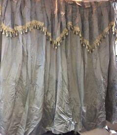 Curtains grey, full length designer only £36