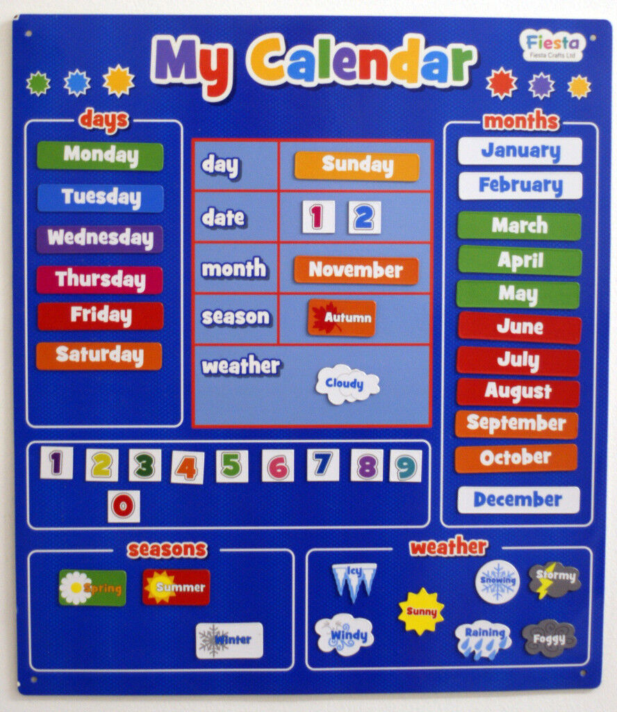 Magnetic Childrens' Wall Calender
