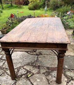 6-SEAT DINING TABLE (INDIAN TEAK)