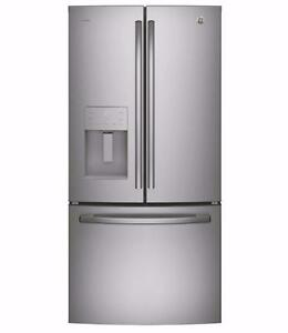 33'' Fridge, Stainless, French doors, Water&Ice Distributor, GE Profile