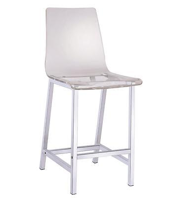 Clear Acrylic Counter Height Chair with Chrome Base by Coaster 100265 - Set of 2 for sale  Shipping to Canada
