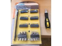 58 Piece Ratchet Socket and Bit Set