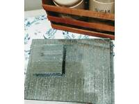 Glitter mirrored tablemats & coasters