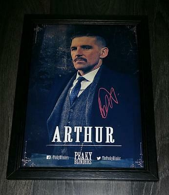 "PEAKY BLINDERS PP SIGNED & FRAMED A4 12X8"" PHOTO POSTER PAUL ANDERSON N3"