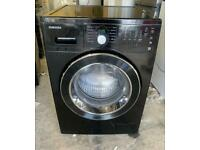 SAMSUNG 9kg black washing machine 1200 spin £160 good condition