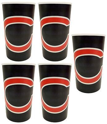 5 Chicago Bears Football 20oz Cups - BPA Free - Dishwasher Safe - Made in USA!](Chicago Bears Cup)