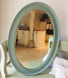 Large Duck Egg Blue Mirror