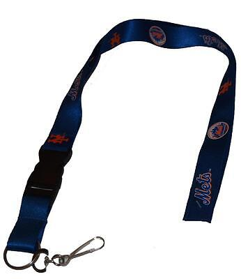 Official Licensed MLB New York Mets Breakaway Lanyard with Key Ring Keychain