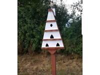 Bird lodge house & stand garden furniture