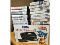 Sega Master System 2 Console With Sonic Game Inbuilt & Boxed and 15 games