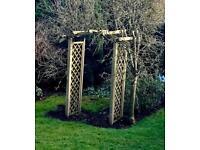 Wooden Garden Archway