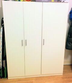Triple White Wardrobe