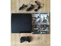 PS3 PlayStation 3 Slim Console + Controller etc