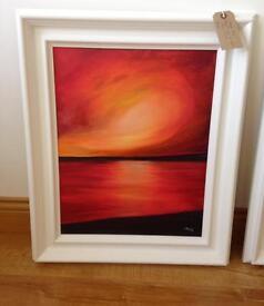 """Flaming Sky"" original painting"