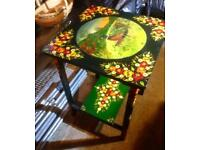 Hand Painted Table Depicting a Pheasant