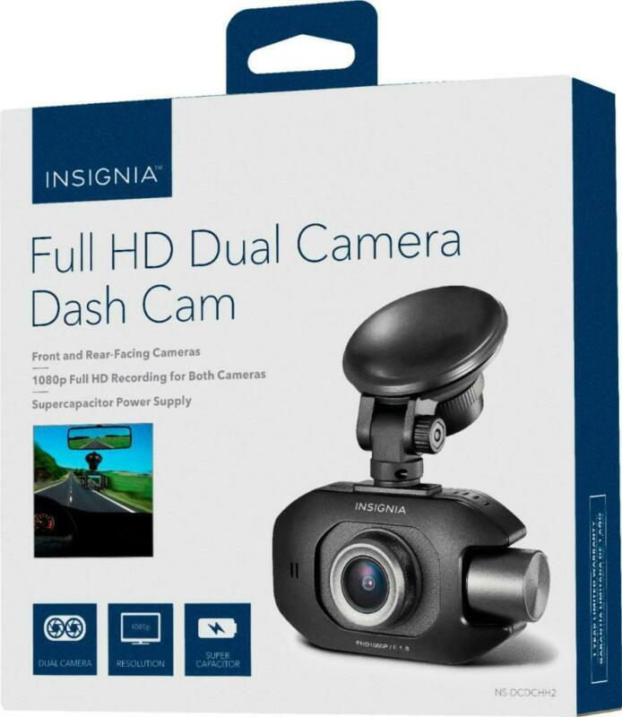 Insignia - Front and Rear-Facing Camera Dash Cam - Black NS-DCDCHH2