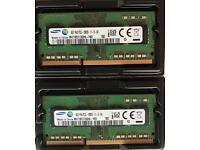 SAMSUNG 2 x 4GB memory ram