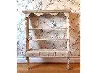 Pine wall unit shelf Annie Sloan Country Grey