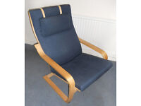 Ikea Poang Chair with Neck Cushion