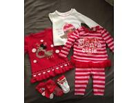 Bundle of girls Christmas clothes 3-6months