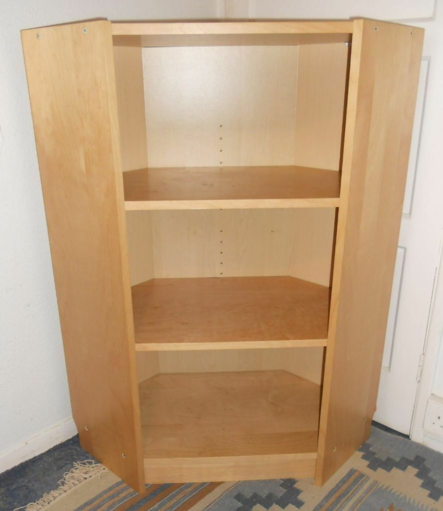 corner shelving unit storage ikea billy bookcase tv stand